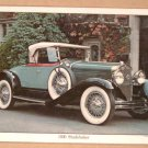 Set CLASSIC AUTOMOBILE Placemats (4) - 1930 Studebaker, 1926 Chrysler, 1930 Buick, 1931 Ford Model A