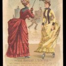 """Victorian Trade Card - Arbuckle Brothers Coffee Company - """"SHE BOUGHT A NEW ONE"""" - Unnumbered"""