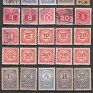 AUSTRIA - 1910-22 - 30 Different POSTAGE DUE Stamps - mostly unused