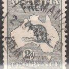 AUSTRALIA Postage Stamp - 1913 - 2p Kangaroo & Map (Sc. #3) - Used