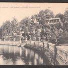 1930s (?) WELLESLEY, MASSACHUSETTS - Hunnewell Gardens, Lake Waban - Postcard