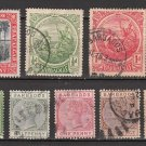 BARBADOS - 1876-1921 - 8 Different Postage Stamps - Used