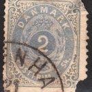 DENMARK Postage Stamp - 1870 - 2s Royal Emblems (Sc. #16) - Used