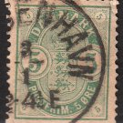 DENMARK Postage Stamp - 1882 - 5o Coat of Arms (Sc. #35) - Used