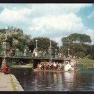 1950s BOSTON, MASSACHUSETTS - Swan Boat, Public Gardens - Postcard
