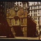 1950s BOSTON, MASSACHUSETTS - Old State House - Postcard