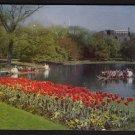 1950s BOSTON, MASSACHUSETTS - Public Gardens and Swan Boats - Postcard