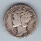 1928 Mercury Dime (U.S. Coin - 90% Silver) - Circulated