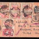 GOLD COAST 1949 Cover to Allentown, Pennsylvania w/ Sc.#s 132, 134, 137, and ???