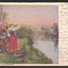 "1907 Artistic Post Card - ""HAILING THE FERRYMAN"""