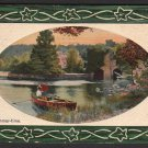 "1911 Artistic Embossed Post Card - ""Summer-time"""