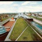 1950s SOO LOCKS (MacArthur Lock) - Sault Saint Marie, Michigan - Unused Postcard