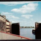 1950s SAULT LOCKS (Canadian Lock) - Sault Saint Marie, Ontario - Unused Postcard