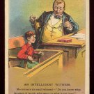 "Victorian Trade Card - Arbuckle Brothers Coffee Company - ""AN INTELLIGENT WITNESS"" (#43)"