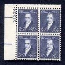 1968 THOMAS PAINE 40¢ (Sc. #1292) Plate Block - MNH