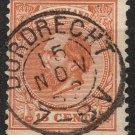 NETHERLANDS Postage Stamp - 1872 - 15c King William III (Sc. #27) - Used