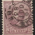 NETHERLANDS Postage Stamp - 1872 - 25c King William III (Sc. #30) - Used