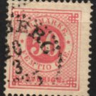 SWEDEN Postage Stamp - 1878 - 50o Numeral (Sc. #36) - Used