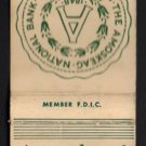 AMOSKEAG NATIONAL BANK - Manchester, New Hampshire - Vintage Matchbook Cover