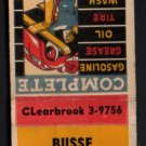 BUSSE Texaco Service - Mt. Prospect, Illinois - 1950s Matchbook Cover