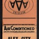 ALEX-CITY MOTEL - Alexander City, Alabama - 1950s(?) Vintage Matchbook Cover