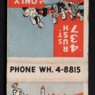 RICCARDO Restaurant & Gallery - Chicago, Illinois - 1950s(?) Vintage Matchbook Cover