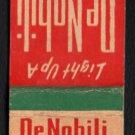 DeNOBILI CIGARS - Vintage Matchbook Cover
