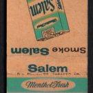 SALEM Cigarettes - R. J. Reynolds Tobacco Co. - 1950s Vintage Matchbook Cover