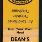 DEAN'S MOTEL - Saugus, Massachusetts - 1950s(?) Vintage Matchbook Cover