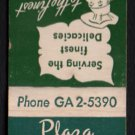 PLAZA CORNED BEEF CENTER - Chicago, Illinois - 1950s(?) Vintage Matchbook Cover