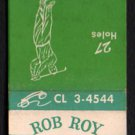 ROB ROY GOLF CLUB - Prospect Heights, Illinois -1950s(?) Vintage Matchbook Cover
