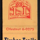 TIMBER TRAILS COUNTRY CLUB - LaGrange, Illinois - Vintage Matchbook Cover