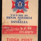 VETERANS OF FOREIGN WARS Post 2149 - Bensenville, Ill. - Vintage Matchbook Cover