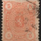 FINLAND Postage Stamp - 1881 - 5p Coat of Arms (Sc. #26) - Used