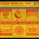 CIRCUS HALL OF FAME - Sarasota, Florida - Extra-Wide 1960s(?) Vintage Matchbook Cover