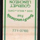 GINSBURG'S PUB - San Francisco, California - Vintage Matchbook Cover