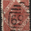 NEW SOUTH WALES Postage Stamp - 1882 - 4p Queen Victoria (Sc. #64) - Used