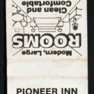 PIONEER INN MOTEL - Cartersville, Georgia - 1970s(?) Vintage Matchbook Cover