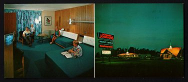 HOWARD JOHNSON'S MOTOR LODGE - Penn's Grove, New Jersey - 1967 Wide Postcard