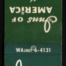 INNS OF AMERICA - Johnson City, Tennessee - 1950s(?) Vintage Matchbook Cover