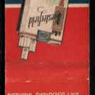 CHESTERFIELD Cigarettes - Vintage Matchbook Cover