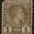 MONACO Postage Stamp - 1885 - 1c Prince Charles III (Sc. #1) - Unused (damaged)
