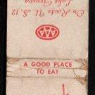DANISH TEA ROOM - Lake Geneva, Wisconsin - Vintage Matchbook Cover