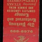 THE PARKWAY RESTAURANT - Brockton, Massachusetts - Vintage Matchbook Cover