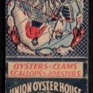UNION OYSTER HOUSE - Boston, Massachusetts - Vintage Matchbook Cover