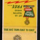 HOLIDAY INN of TOLEDO - Perrysburg, Ohio - 1950s(?) Vintage Matchbook Cover
