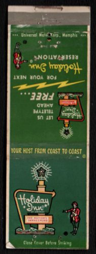 HOLIDAY INN - Milwaukee 13, Wisconsin - 1950s(?) Vintage Matchbook Cover