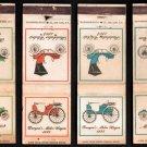 ANTIQUE AUTOMOBILES - Diamond Match Co. - 4 Vintage Matchbook Covers