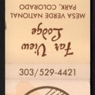 FAR VIEW LODGE - Mesa Verde National Park, Colorado - 1980s Matchbook Cover