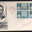 SMARTCRAFT - 1948 Gettysburg Address (#978) FDC - B4 UA